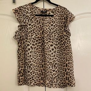 Printed Blouse in Size L by Premise Studio